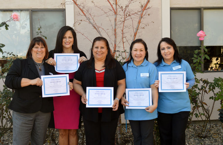 Dementia Practitioner Status Awarded To Rosewood Gardens Resident  Assistants   The Watermark At Rosewood Gardens In Livermore, CA