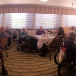 A Panorama of our full house Tea Party!