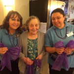 Associates and Residents had fun decorating with purple ribbons.