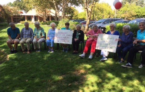 Resident Irma Zimmer Uses Her Birthday to Send Prayers of Safety to Watermark's Sister Communities in Florida