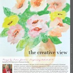 Irma Zimmer, Inspiring Artist at 97: watercolor painting and article as published in the CALA News and Views March 2018 .