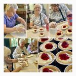Residents Creating Mini Cheesecakes