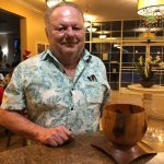 Jerry brought us an Hawaiian bowl he purchased on his last vacation to the Islands