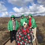 Our ladies all bundled up but braving the amazing winter weather